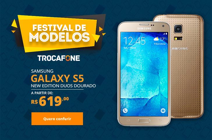 Samsung Galaxy S5 New Edition Duos Dourado