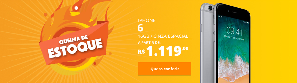 iPhone 6 16GB Cinza Espacial