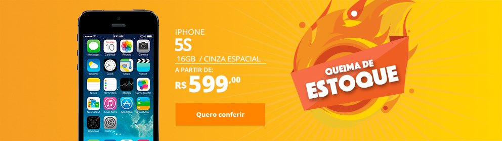 iPhone 5S 16GB Cinza Espacial