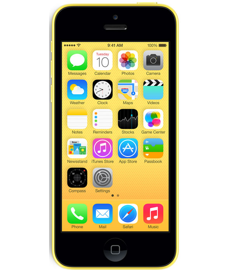 iPhone 5C 8GB Amarelo - 8GB - IOS - Apple A6 Dual Core 1.3 GHz - Tela 4 ´ - Câmera 8MP - Desbloqueado - Recertificado