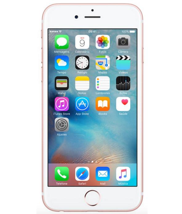 iPhone 6S 128GB Ouro Rosa - 128GB - iOS 9 - 2 GHz Dual Core - Tela 4.7 - Câmera 12 Mp - Desbloqueado - Recertificado