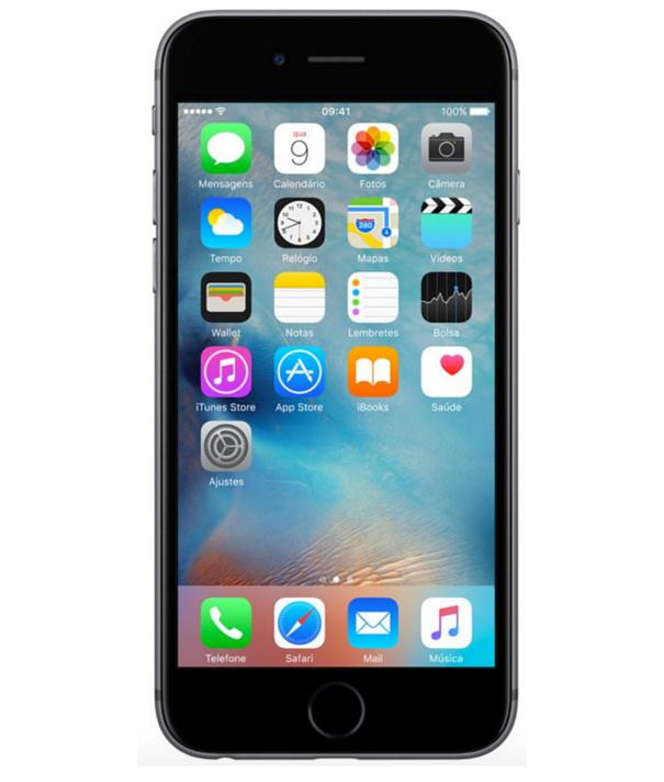 iPhone 6S 128GB Cinza Espacial - 128GB - iOS 9 - 2 GHz Dual Core - Tela 4.7 - Câmera 12 Mp - Desbloqueado - Recertificado