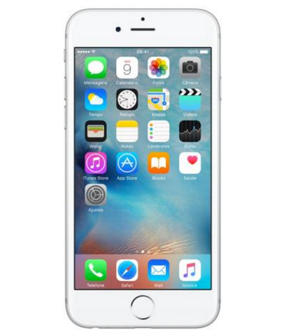 iPhone 6S 128GB Prata - 128GB - iOS 9 - 2 GHz Dual Core - Tela 4.7 - Câmera 12 Mp - Desbloqueado - Recertificado