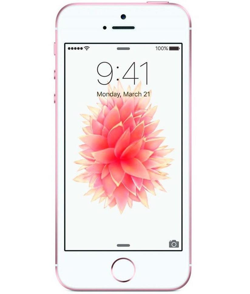 iPhone SE 64GB Ouro Rosa - 64GB - iOS 9 - 1.8 GHz Dual Core - Tela 4 ´ - Câmera 12MP - Desbloqueado - Recertificado