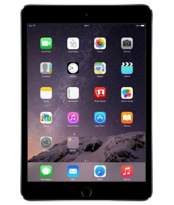 Ipad Mini 3 Wi - Fi 64GB Cinza Espacial - 64GB - iOS 8 - Chip A7 com arquitetura de 64 bits e coprocessador de movimento M7 - Tela 7,9 ´ - Câmera 5MP - Desbloqueado - Recertificado