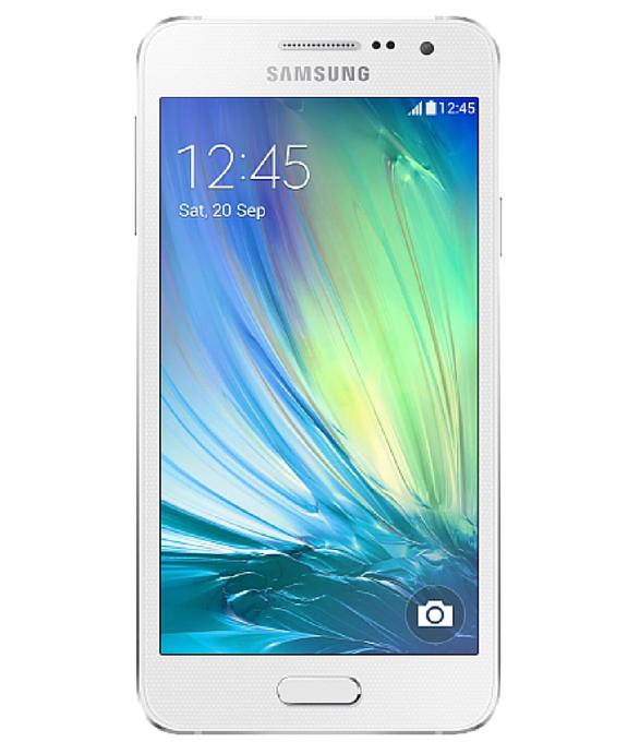 Samsung Galaxy A3 Duos Branco - 16GB - Android 4.4.4 KitKat - 1.2 GHz Quad Core - Tela 4.5 ´ - Câmera 8 MP - Desbloqueado - Recertificado