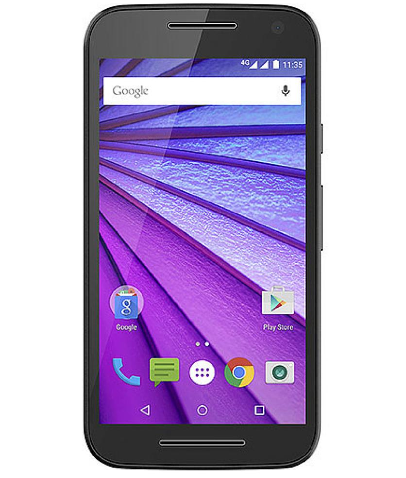 Motorola Moto G3 8GB 4G Dual Preto - 8GB - Android 5.1.1 Lollipop - 1.4 GHz Quad Core - Tela 5 ´ - Câmera 13MP - Desbloqueado - Recertificado