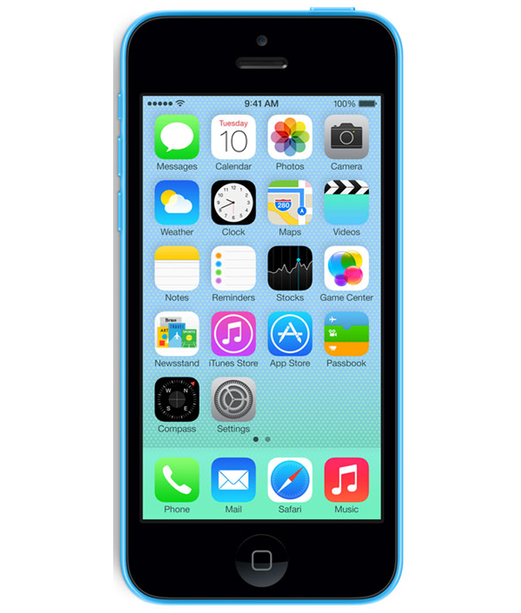 iPhone 5C 16GB Azul - 16GB - IOS - Apple A6 Dual Core 1.3 GHz - Tela 4 ´ - Câmera 8MP - Desbloqueado - Recertificado
