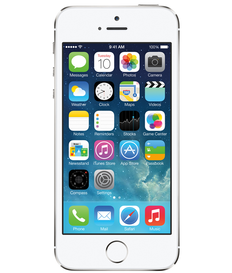 iPhone 5S 16GB Prata - 16GB - IOS - Apple A7 Dual Core 1.3 GHz - Tela 4 ´ - Câmera 8MP - Desbloqueado - Recertificado