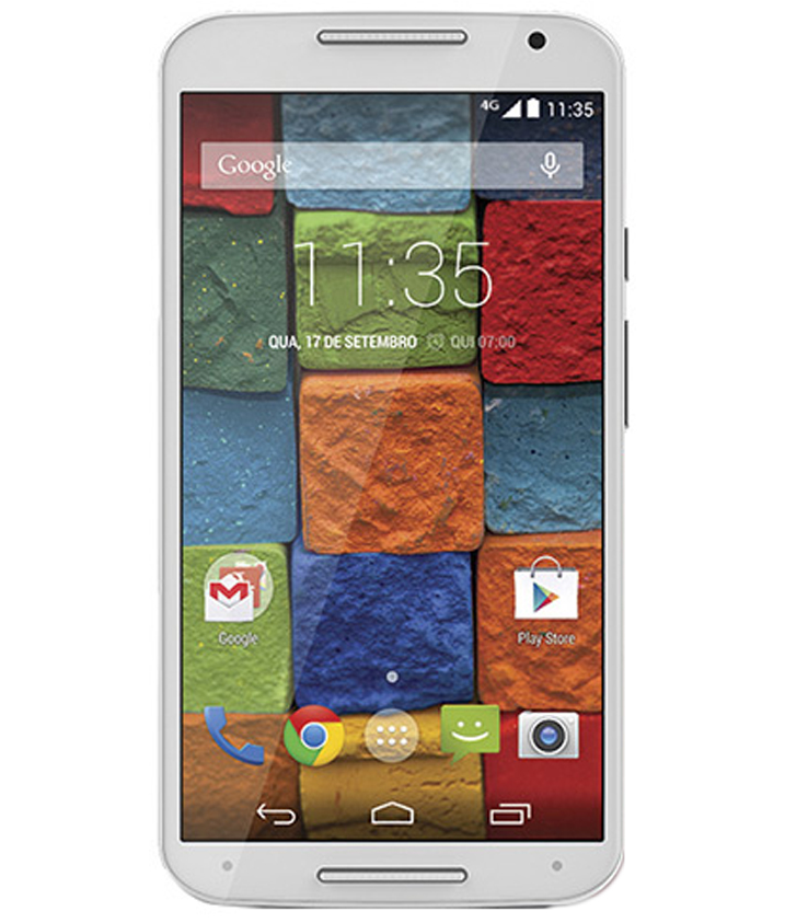 Motorola Moto X2 32GB Couro Navy Seminovo Excelente