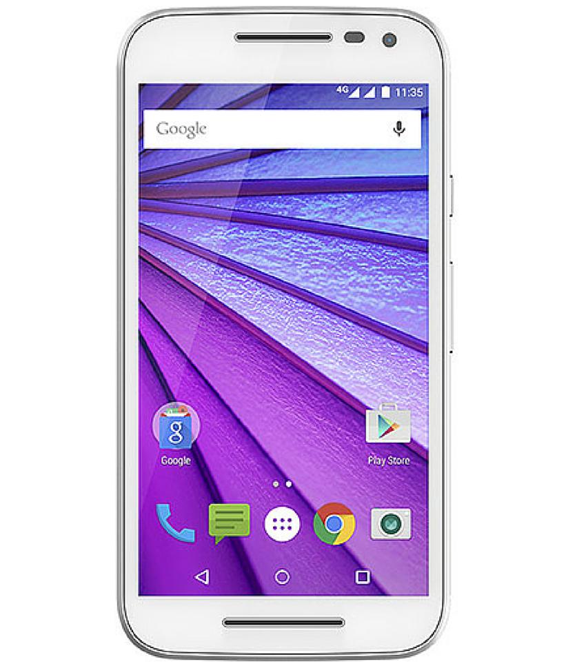 Motorola Moto G3 16GB 4G Dual Branco - 16GB - Android 5.1.1 Lollipop - 1.4 GHz Quad Core - Tela 5 ´ - Câmera 13MP - Desbloqueado - Recertificado