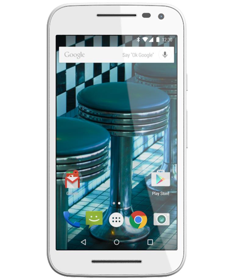 Motorola Moto G3 16GB 4G Dual Branco Azul - 16GB - Android 5.1.1 Lollipop - 1.4 GHz Quad Core - Tela 5 ´ - Câmera 13MP - Desbloqueado - Recertificado