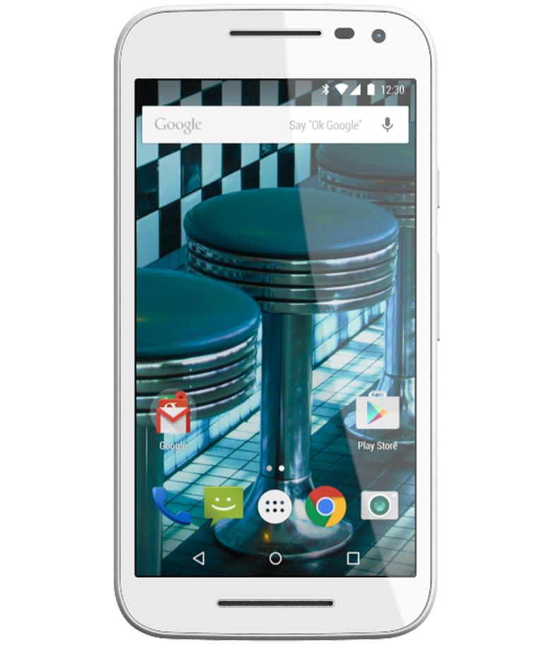 Motorola Moto G3 16GB 4G Dual Branco Pink - 16GB - Android 5.1.1 Lollipop - 1.4 GHz Quad Core - Tela 5 ´ - Câmera 13MP - Desbloqueado - Recertificado