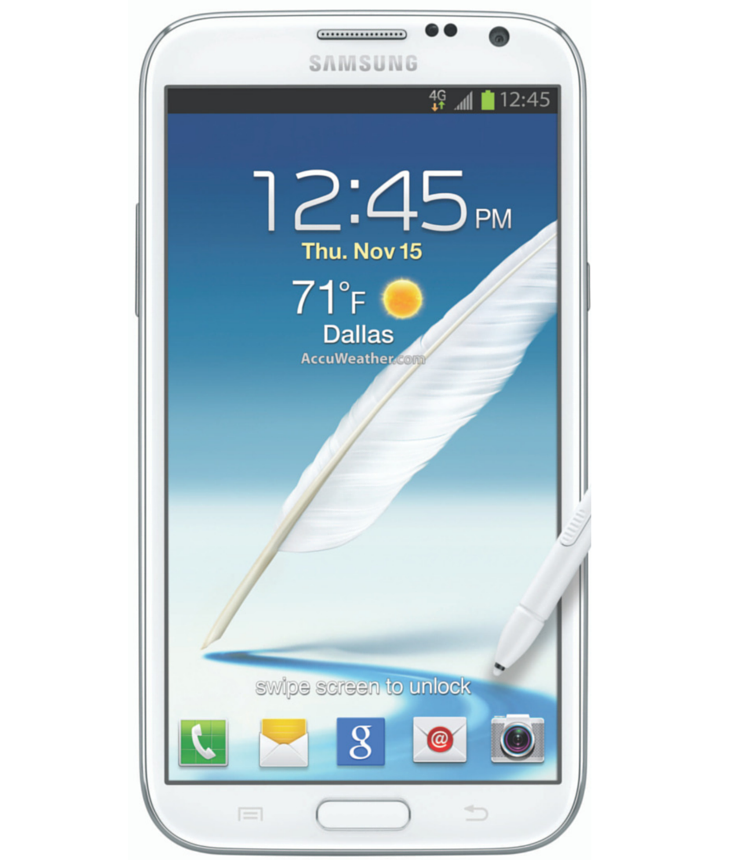 Samsung Galaxy Note II N7100 Branco - 16GB - Android 4.1 Jelly Bean - 1.6 GHz Quad Core - Tela 5.5 ´ - Câmera 8MP - Desbloqueado - Recertificado