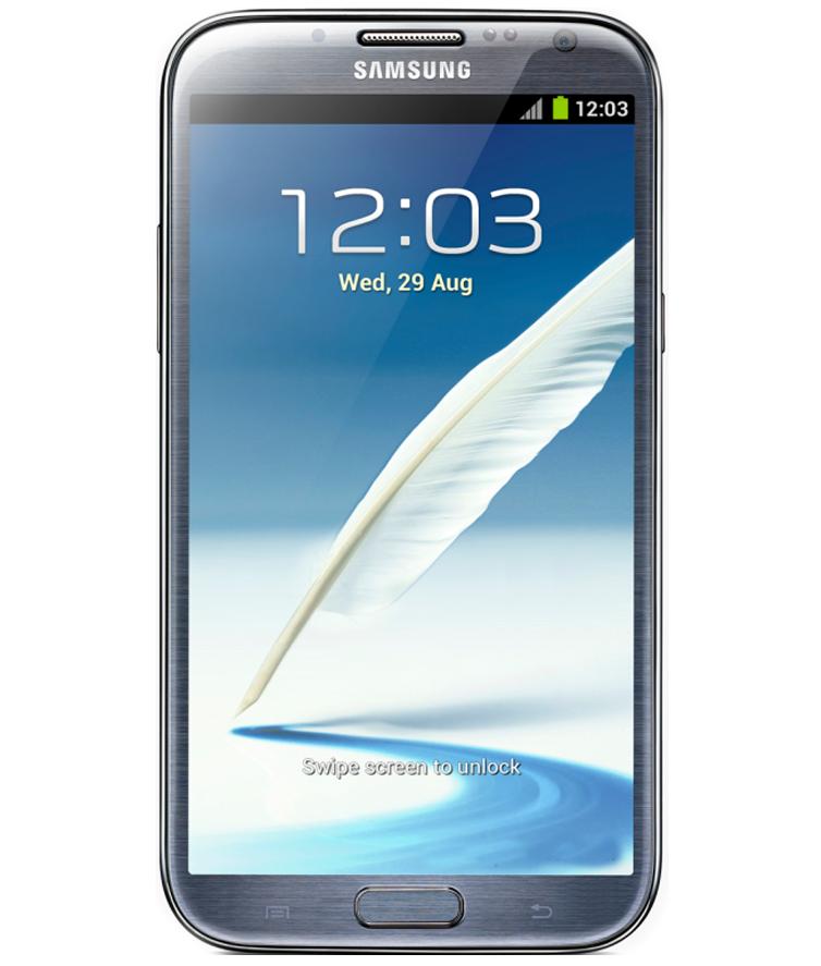 Samsung Galaxy Note II N7100 Cinza - 16GB - Android 4.1 Jelly Bean - 1.6 GHz Quad Core - Tela 5.5 ´ - Câmera 8MP - Desbloqueado - Recertificado