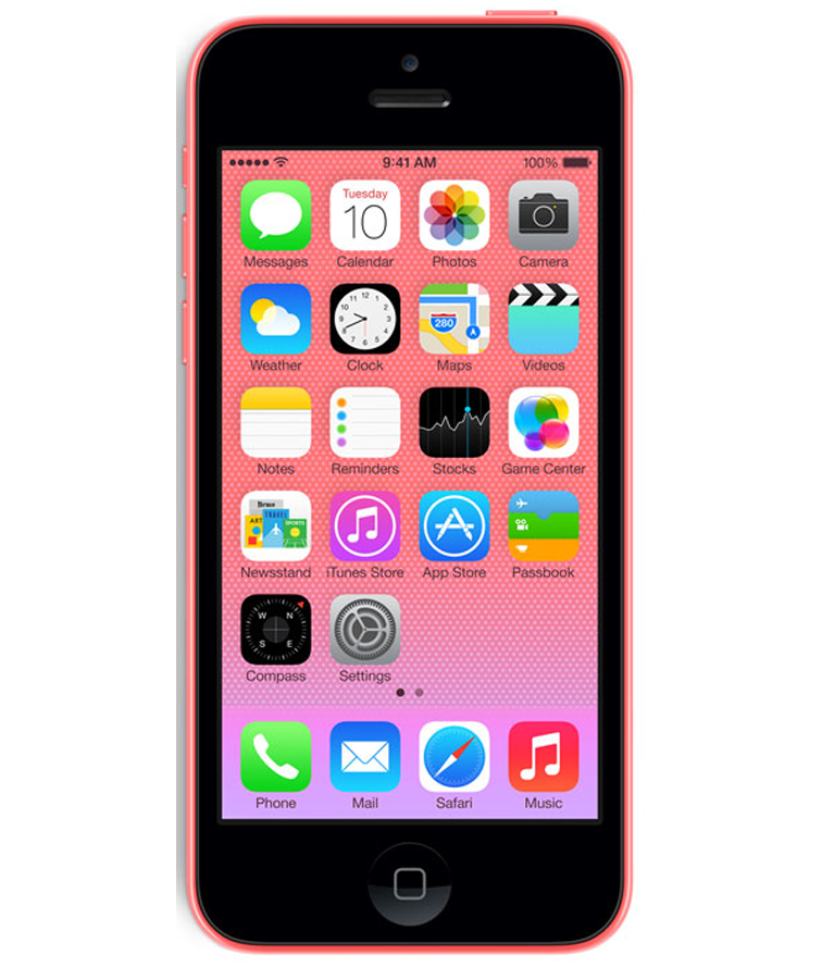 iPhone 5C 16GB Rosa - 16GB - IOS - Apple A6 Dual Core 1.3 GHz - Tela 4 ´ - Câmera 8MP - Desbloqueado - Recertificado