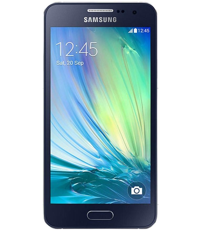 Samsung Galaxy A3 Duos Preto - 16GB - Android 4.4.4 KitKat - 1.2 GHz Quad Core - Tela 4.5 ´ - Câmera 8 MP - Desbloqueado - Recertificado
