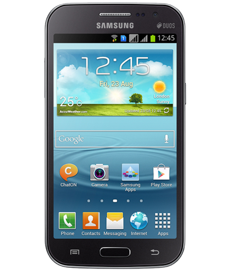 Samsung Galaxy Win Duos Cinza - 8GB - Android OS, v4.1.2 - Quad - core 1.2 GHz Cortex - A5 - Tela 4.7 ´ - Câmera 5MP - Desbloqueado - Recertificado