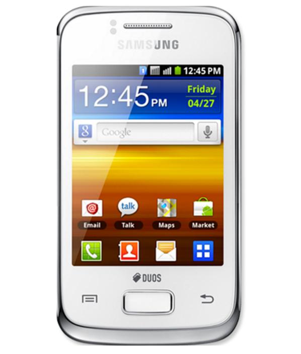 Samsung Galaxy Y Duos Branco - 512MB - Android Gingerbread - Broadcom BCM21553 / ARM1136 - Tela 3.14 ´ - Desbloqueado - Recertificado