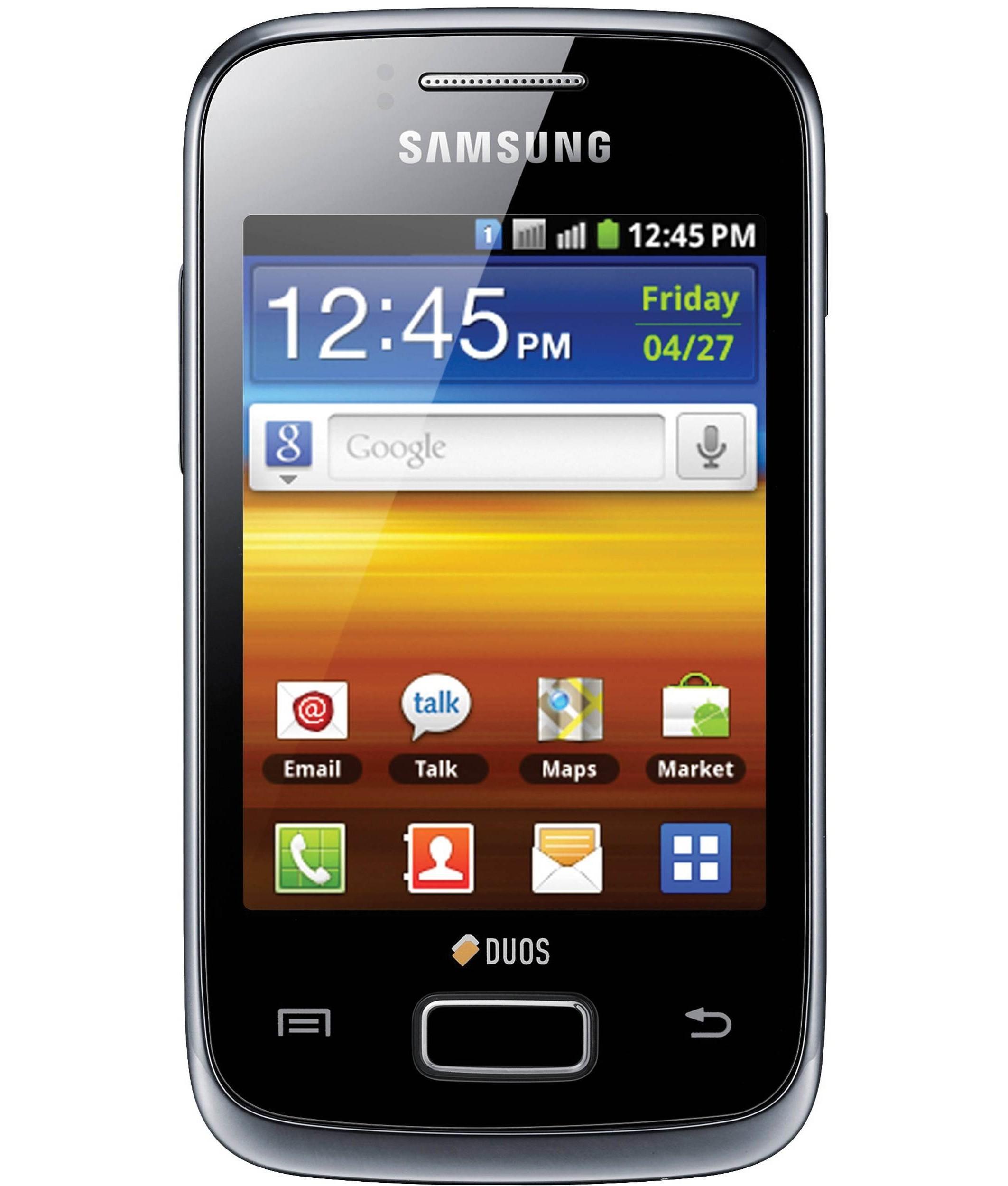 Samsung Galaxy Y Duos Preto - 512MB - Android Gingerbread - Broadcom BCM21553 / ARM1136 - Tela 3.14 ´ - Desbloqueado - Recertificado